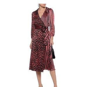 NWOT Alice+Olivia Abigail Wrap Midi Dress Size 4